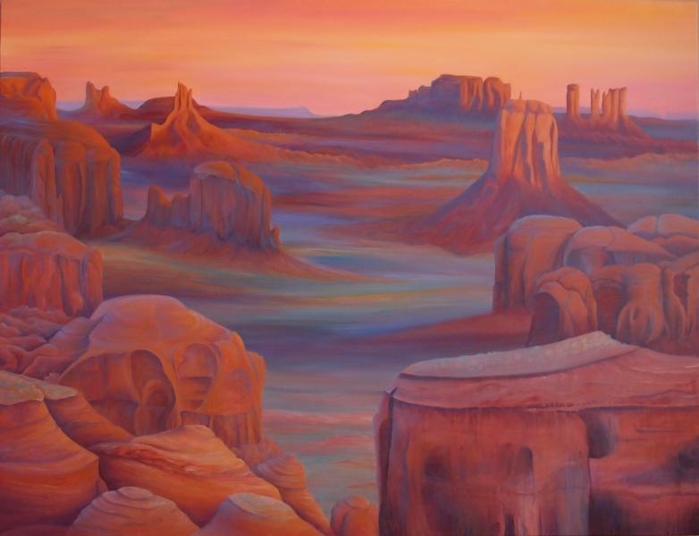 Monument Valley, 116 x 96 cm