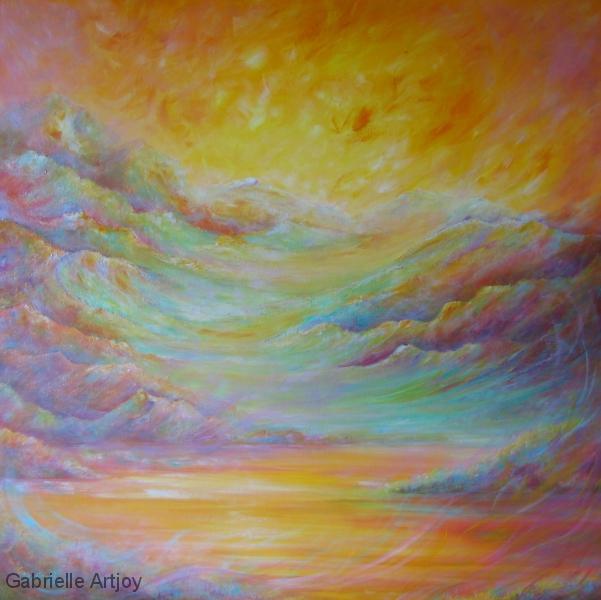 Flamboyance, 100 x 100 cm