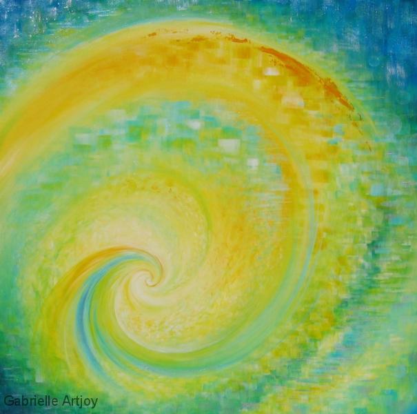 Spring spiral, 60 x 60 cm