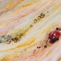 Ruiss-Elle, 30 x 60 cm<br />Dans le sillage de l'ondine,<br>Ruissellement de pierreries -<br>La Vie pétille en couleurs<br><br>La magie d'Elle<br>Enchante l'anodin -<br>Tout devient joyau