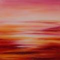 Vastitude, 100 x 100 cm<br />Coeurs ouverts, couleurs charnelles<br>Joies intimes,  ciel en miroir -<br>Amour serein,  horizons de lumière