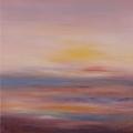 Infinitude II, 50 x 100 cm<br />Infinie douceur, moelleuse profondeur,<br>La Déesse accueille, lumineuse noirceur<br>Enveloppée par le chant de son coeur,<br>L'enfant s'apaise et rêve son bonheur.