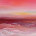 Infinitude III, 50 x 100 cm<br />Terre et ciel en écho, vastitude tout autour de moi...<br>Je frémis, je vibre, l'intensité de l'appel s'accroît...<br>Si beau et si immense, ce monde source de joie !<br>Je danse et bondis : que mes ailes se déploient !
