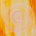 Radiance, 100 x 100 cm<br />Voiles de lumière,<br>Vent solaire...<br>Comme un appel,<br>Ou une réponse...<br>Coeur du voyage,<br>Voyage du coeur !