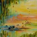 Transmutation, 50 x 50 cm<br />Evasion, réflexion, méditation... vision d'horizon - élévation !
