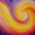 Inversion, 60 x 49 cm<br />Au coeur du mouvement,<br>L'immobilité concentrée, <br>Baiser de comètes errantes...