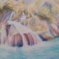 Le ruisseau et la rivière, 51 x 36 cm<br />