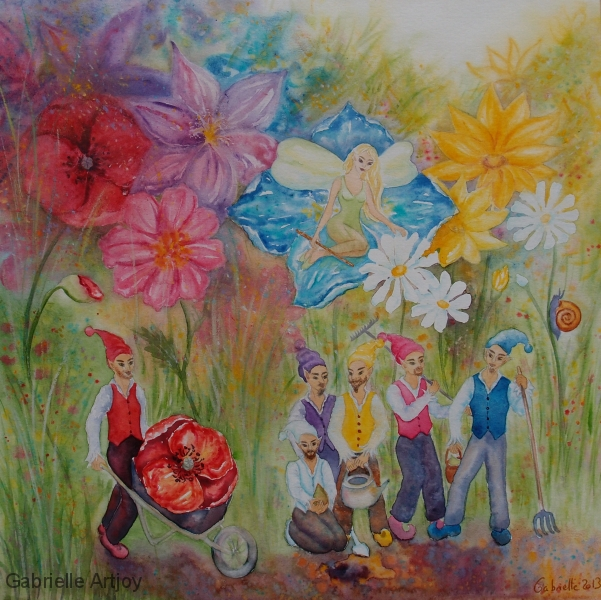lutins jardiniers et fée protectrice