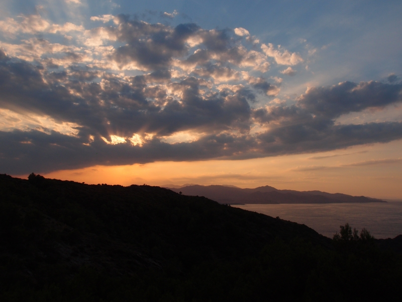 Coucher de soleil, Cap Creus, Espagne