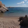 Iles Lavezzi, petite plage déserte<br />