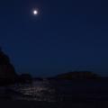 Vagues sous la pleine lune<br />