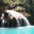 Verdon, petite cascade d'eau de source<br />